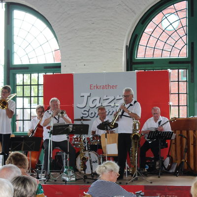 Die Dixie Friends Krombach beim 21. Erkrather Jazzsommer.